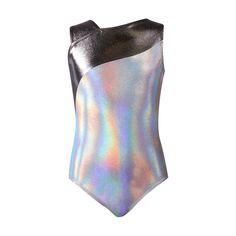 49def4260 Lizatards Black Space-Dye Gymnast Zip-Up Hoodie - Girls