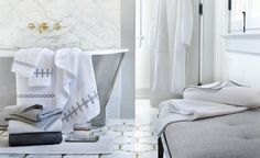 Rendered from the finest Egyptian cotton, @Matouk's towels wrap you in luxurious softness and absorbency.