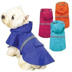 DOG-RAIN-COAT-Waterproof-Vinyl-Slicker-Guardian-Gear-Puppy-Pet-Reflective-Jacket