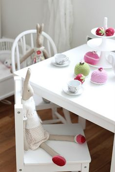 Bunny tea party. Oh we will enjoy a tea party together!
