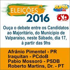A rádio supra FM promove no próximo sábado, das 9 às 11h00, o debate entre os…