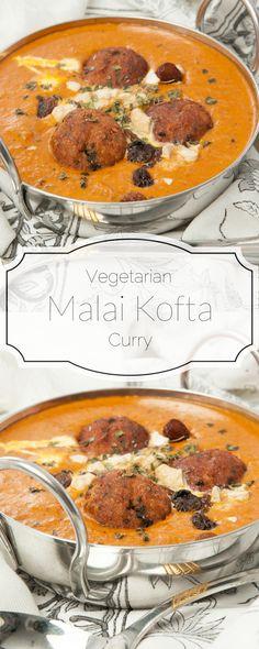 Malai Kofta - Vegetarian Potato & Paneer Balls in a cream, rich tomato curry! Restaurant quality Indian recipe. Thermomix instructions, vegetarian Indian recipe. #thermomix #indian