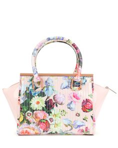 5709129caa718 Oil painting tote bag - Nude Pink