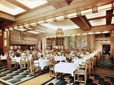 SS Empress of Britain, first class dining room