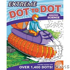 Extreme Dot to Dot: Amazing Science  Intricate, challenging and wildly rewarding to finish, these complex puzzles range from 300 to over 1,400 dots. Some puzzles even cover a two-page spread! #MindWareToys #FreePrintable #DotToDot