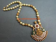 Nakshi Gold and Pearl Long chain with Designer Temple Jewellery Pendant - Latest Indian Jewellery Designs Kids Gold Jewellery, Gold Temple Jewellery, Gold Jewellery Design, India Jewelry, Diamond Jewellery, Latest Jewellery, Handmade Jewellery, Designer Jewelry, Pearl Necklace Designs