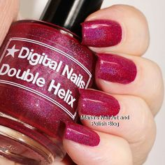 The gorgeous @digital_nails Double Helix is on my blog today just follow the blog link in my bio to see more photos of it and read the entire review. You also find swatches of hundreds of other indies. To see all my swatches of this brand here on IG click this hashtag: #digitalnailsonmariasnailartandpolishblog #nailstagram #nails #instanails #nailpolish #manicure #swatches #ournailworld #naturalnails #notd #npa #nailporn #nailblogger #nagellack #neglelak #vernis #varnish #lacquer #smalto…