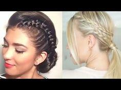 peinado trenza a un lado facil juvenil elegante y divertido youtube