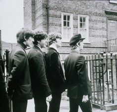 The Beatles filming A Hard Day's Night, 1964
