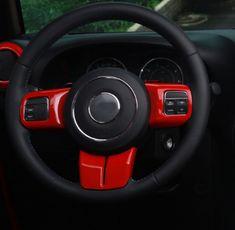 Mad Hornets - Steering Wheel Cover Trim Jeep Wrangler JK 2011-2017 3Pcs Red, $23.99 (http://www.madhornets.com/steering-wheel-cover-trim-jeep-wrangler-jk-2011-2017-3pcs-red/)