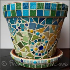 What better companion for a young lemon tree than a pretty mosaic pot in…
