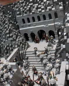 LEGO Helm's Deep battle scene from Peter Jackson's The Lord of the Rings