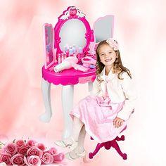 Spielzeug Schminktisch Frisiertisch für Kinder Mädchen Hocker   Kosmetiktisch