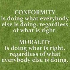 Conformity is not about EVOLVING. Conformity is doing what everyone else is doing because your weak. Evolving is doing your own thing, growing without sacrificing your morals and convictions Great Quotes, Quotes To Live By, Funky Quotes, Random Quotes, Awesome Quotes, Words Quotes, Wise Words, Quotes Images, Motivational Quotes