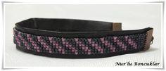 DIY Peyote Gri-Pembe Bileklik  / DIY Gray-Pink Peyote Bracelet