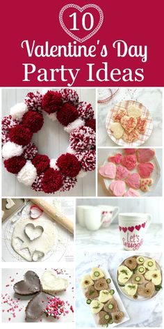 You are going to love these 10 Fun Valentines Party Ideas. Think of Valentine's Day as a time to teach and demonstratelove to each family member and to friends and neighbors. What better way than to have a fun Valentine's Day than kid friendly craft and easy to make party food. #valentines #valentinesparty #valentinesday #valentinescrafts #kidscrafts #kidsbaking #partycrafts #papercrafts #yarncrafts #pompoms