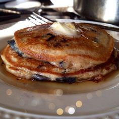 BLUEBERRY PANCAKES WITH  BISQUICK