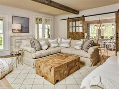Chic rustic living room with Teak Root Coffee Table