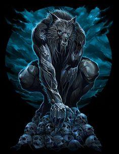 Werewolf by Abrar Ajmal Fantasy Creatures, Mythical Creatures, Wolf Warriors, Beast, Werewolf Art, Werewolf Legend, Vampires And Werewolves, World Of Darkness, Classic Monsters