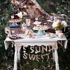 Get creative with your dessert table.