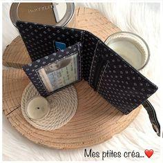 Mes ptites créa sur Instagram: Confection d'un portefeuille #compère patron de chez #sacôtin en #similicuir #noir en toute simplicité pour mon #ado ❤️ . . .#couture…