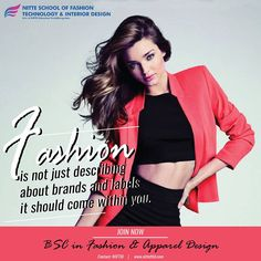 Make career in Fashion industry and fulfill your dreams by joining the best fashion design college NIITE School of Fashion College Majors, Education College, St Lawrence College, Education Journals, Interior Design Colleges, Online College, Apparel Design, Industrial Style