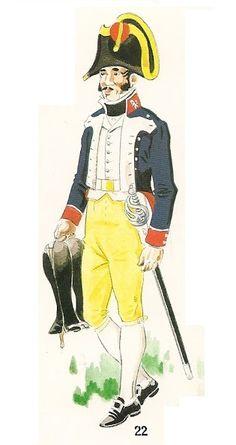 Infante 1807 Línea. Uniforme de paseo