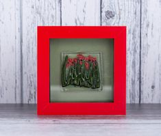 Wild Red Poppy Flower Fused Glass Mini Framed Picture. Wall decor. Floral Art by PainInTheGlassByGail on Etsy minipooppypicture .smallpoppypicture #tinyredpoppies #wildredpoppies glassredpoppies #cutepoppypicture #glasspoppyart #redpoppydecor Poppy Decor, Picture Frames, Picture Wall, Plate Display, Handmade Home Decor, Handmade Gifts, Glass Texture, Flower Pictures, Red Poppies