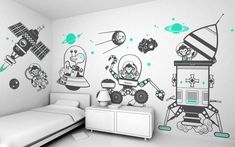 Make your kid's room spunky and fun with picture perfect wall decals. You can transform your kid's room into a princess' castle, or into a mini playroom with his/her favorite cartoon characters.