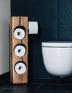 Graw Möbel individually designed toilet paper holder - accessory for your . - Graw Möbel individually designed toilet paper holder – accessory for your … – – - Toilet Shelves, Toilet Paper Storage, Wood Toilet Paper Holder, Industrial Toilets, Industrial Bathroom, Bathroom Red, Bathroom Toilets, Bathroom Vintage, Best Toilet Paper