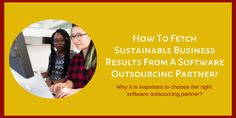 To choose a proper Outsourcing Partner for Software Development is always beneficial if it's done appropriately. Check out how to fetch sustainable business results from a Software Outsourcing Partner to be benefited for the business. Cyber Security Threats, Precision Agriculture, Business Software, Software Development, Sustainability, Check, Sustainable Development