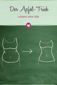 Mit dem Apfel-Trick purzeln die Pfunde von ganz alleine. #Apfeltrick #Diät #abnehmen #Ernährung #Gesundheit