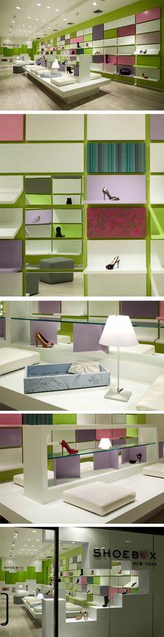 Shoebox store by Sergio Mannino Studio, New York City.