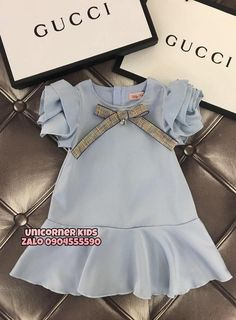 Cute Little Girls Outfits, Little Girl Fashion, Toddler Outfits, Kids Fashion, Luxury Baby Clothes, Designer Baby Clothes, Cute Baby Clothes, Baby Dress Design, Baby Girl Dress Patterns