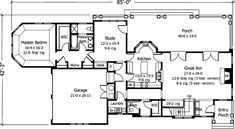Floor plans for Life Dream House by Robert A.M. Stern from cached Southern Living listing ~ ground floor ~