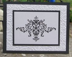 Bliss embossed shimmery wedding card by skitter - Cards and Paper Crafts at Splitcoaststampers