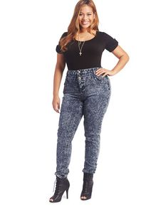 Plus-Size Acid Wash Jeans | swagger like us | Pinterest | Acid ...