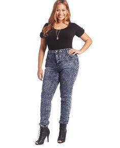 Plus-Size Acid Wash Jeans | swagger like us | Pinterest | Acid ...