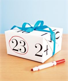 Calendar wrapping paper