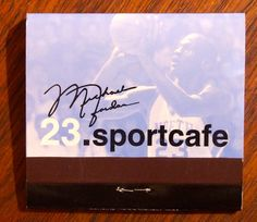 Michael Jordan's sportcafe #matchbook - To order your business' own branded #advertising #matchbooks or #matchboxes, go to www.getmatches.com or call 800-605-7331 today!