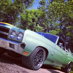 LS powered 70 Malibu chevelle mesh concave wheels extra wide