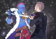 ….Not bad ,You'd make a good Ravager.  ——————————————  More NovaCorps!Kraglin cus why not?!!