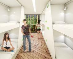 Así serán las habitaciones de los hoteles cápsula de Madrid y Málaga, las mismas que también se acondicionarán en sus franquicias.