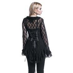 Poizen Industries Cardigan »Lace Top« | Köp i Sweden Rock Shop | Mer Gothic Cardigans finns online ✓ Oslagbara priser!