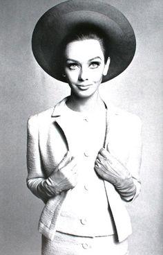 L'Officiel March 1966. Ina Balke is wearing Guy Laroche and Jeanne Lanvin