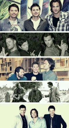 Dean, Cas, Sam - Jensen, Misha, Jared
