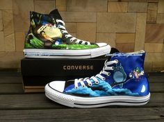 New Works Unique Design Anime Converse,Hand Painted Shoes,Custom Painted Shoes,Custom Converse Birthday Gifts Memorial Gifts Christmas Gifts