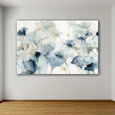 Create an elegant wall design with our Glorious Ginkgo Giclee Canvas Art Print! The stunning hues of blue and gray will look perfect in a modern home. Diy Canvas Art, Canvas Art Prints, Canvas Wall Art, Living Room Canvas Art, Modern Canvas Art, Blue Canvas, Blue Artwork, Inspiration Art, Oeuvre D'art
