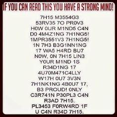 L337 5p34k  Can you read this? :-) Czy potrafisz to przeczytac? :-) Kannst du das lesen? :-) Kan je dit lezen? :-)
