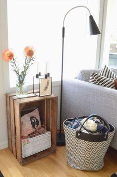 Like bra brukt - NIB-utfordring Basket, Bra, Living Room, Table, Furniture, Home Decor, Modern, Decoration Home, Room Decor